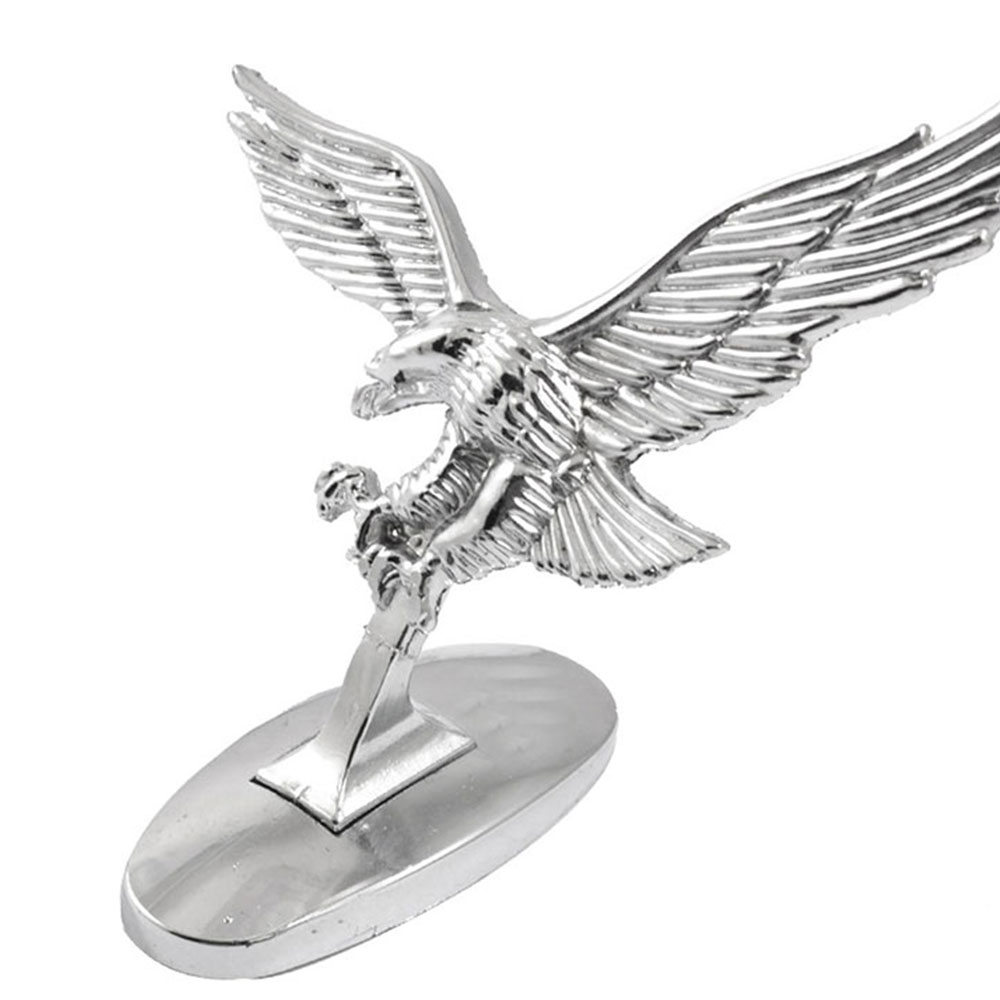 Metal 3D Emblem Flying Chrome Eagle Auto Stickers Car Front Ornament Decals Creative Universal Motorcycle Truck Head Decoration