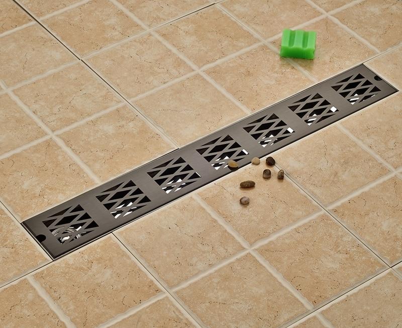 Luxury Oil Rubbed Bronze Floor Drain 70cm Ground Leakage Bathroom Accessories
