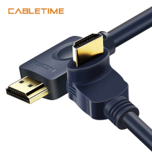 Cabletime HDMI Cable 90/270 Degree Angle 2K*4K 2.0 3D Pro HDMI to HDMI Upgraded CL3 for TV PS3 PS4 Projector Computer N115