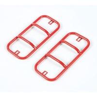 2pcs Red Metal Car Tail Rear Bumper Fog Light Guard Protector Cover For Suzuki Jimny 2007