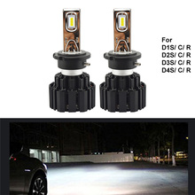 New 2PCS Car LED Headlight D3S D1S Bulb Headlights 100W 13600Lm D1 D2 D3 D4 Auto Lamp 6000K 11-30V for A6 C5 E38