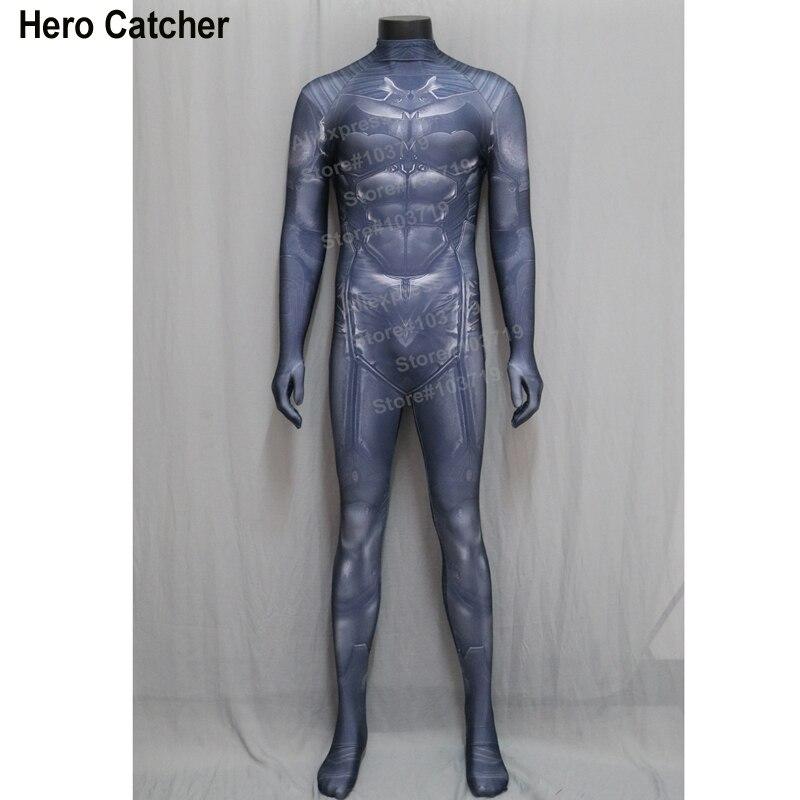 Hero Catcher High Quality Batman Spandex Suit Muscle Batman Cosplay Costume Super Hero Cosplay Costume Batman Custom Made Suit