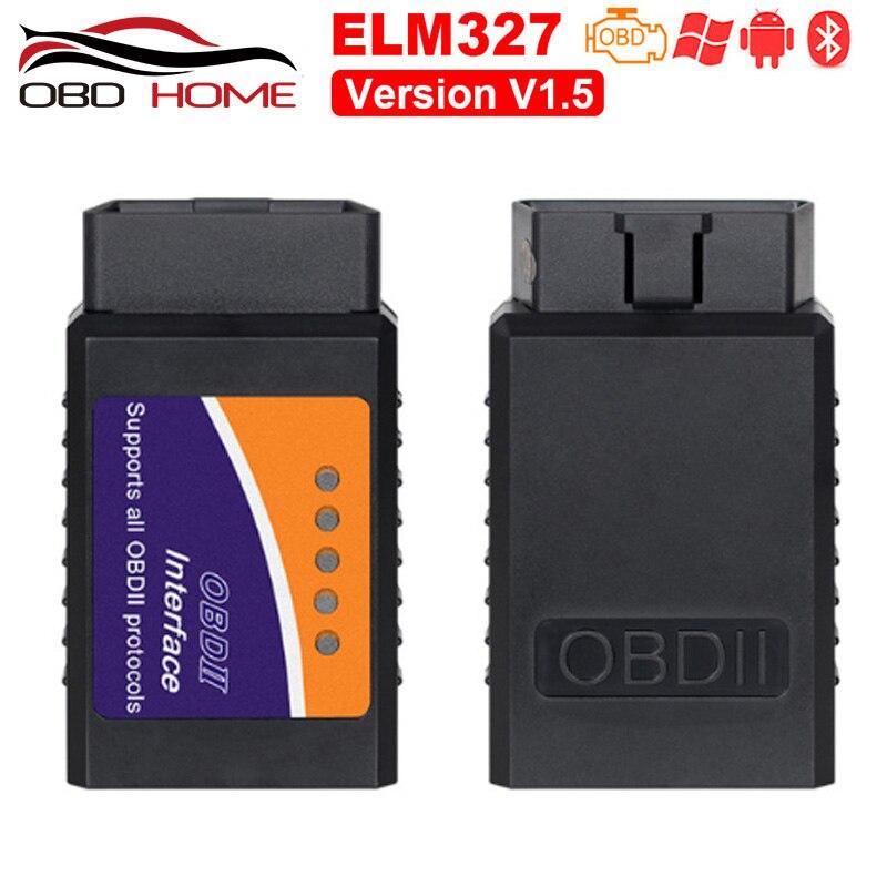 Acessórios do carro obd2 mini elm327 bluetooth v2.1 v1.5 obd2 ferramenta de diagnóstico do carro elm 327 bluetooth para android/symbian obd protocolo