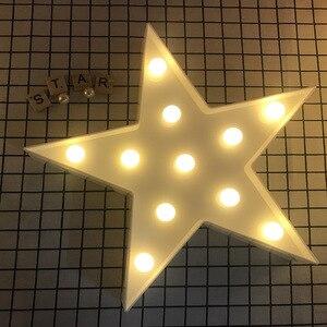 Image 5 - Promotie 3D Marquee Cloud Star Moon Led Nachtverlichting Baby Nursery Lampen Kinderen Slaapkamer Decor Kids Geschenken
