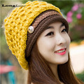 US Europe Hot Women Hat Fall Winter Hats Casual Beanie Snapback Caps Hairball Hats Warm Ear Protection Wool Swag gorras M011