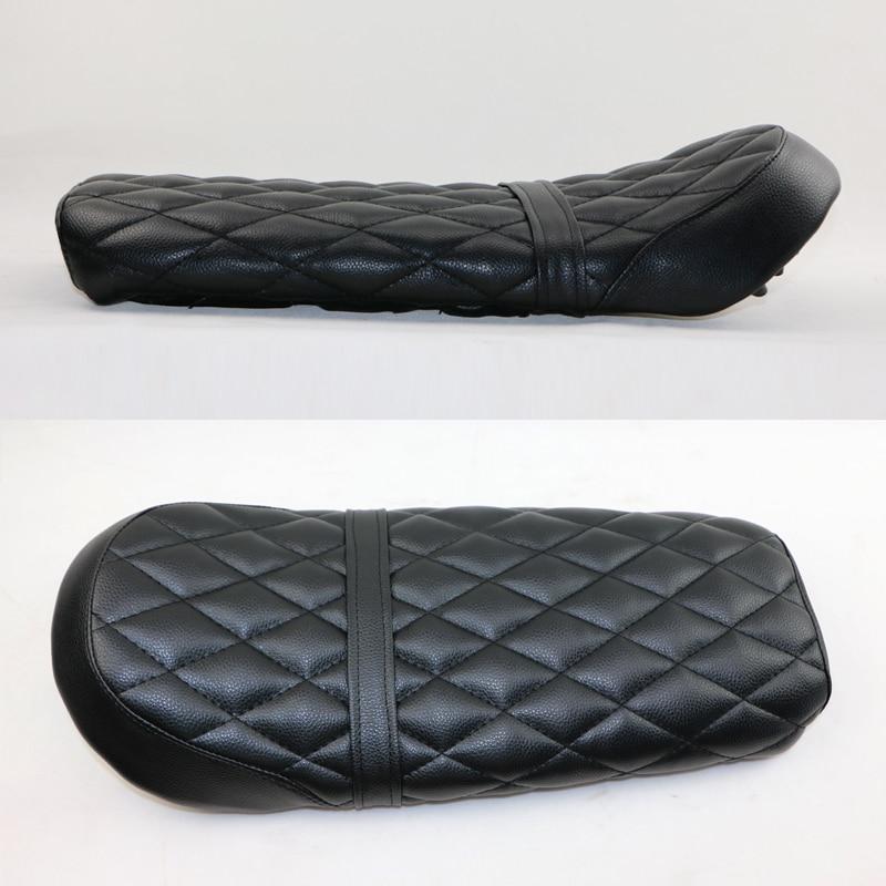 купить NEW Handmade BRAT Seat CAFE RACER Seat Vintage Motorcycle Modified Flat Seats Black Diamond-Shaped grid по цене 5439.12 рублей