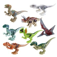 8PCS/LOT Jurassic Dinosaur World Park 2 ABS Dinos Toy,Dinosaur Building Blocks Miniature Action Figures
