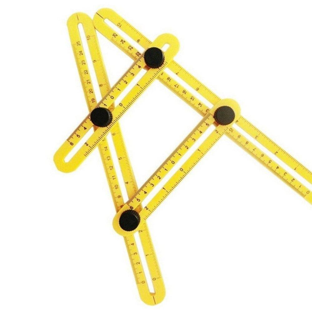 Чертежная линейка офисные многофункциональные Multi-угол чертежная линейка четырех углах деятельности складные ножки оборудования мера