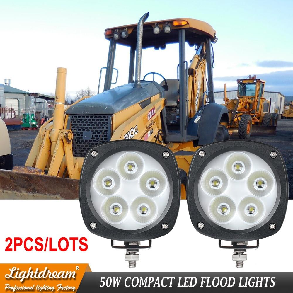12 V a mené des lumières de travail de tracteur 50 W pour le cas: 87555142, 84236850, 87584890, 47682620, 47682629 TL500F a mené des lumières hors route d'inondation x2pcs