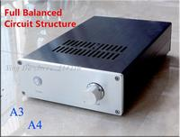 120W+120W A3 Symmetrical double difference field effect tube power amplifier Full balance circuit UPC1237 protection circuit