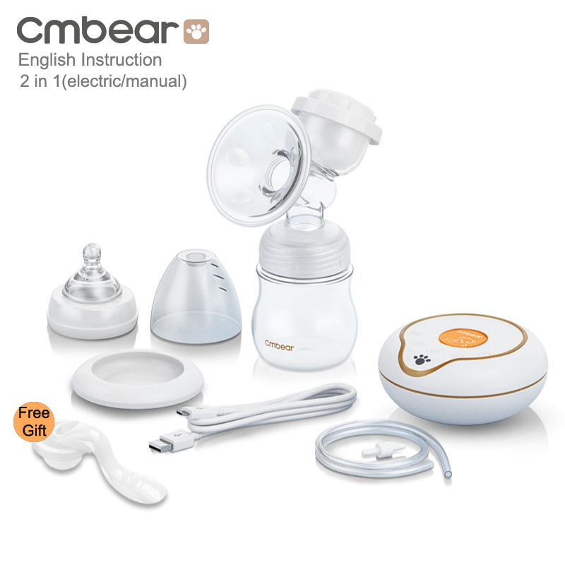 cmbear New Large Suction Electric Manual Breast Pump Baby Feeding feedkid infantil USB Electric breast pump
