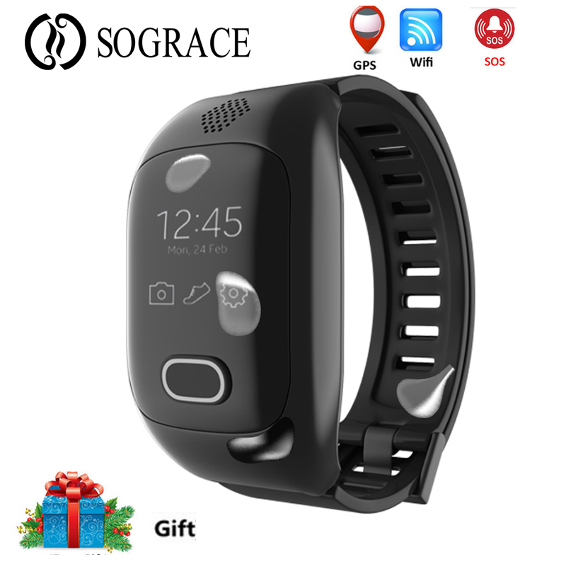 Elderly Child Smart Bracelet Support SIM Card GPS SOS Call Positioning Smart band With Heart Rate Blood Pressure Monitor Watch new talkband bluetooth smart bracelet talk smart with sos call gps gsm lds heart rate blood pressure band for elderly kids gift