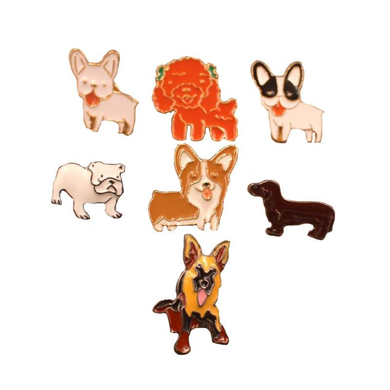 Mdogm Emaille собака животных броши и булавки костюм милый забавный вельш корги питбуль маленький отец воротник Значки для мужчин для мужчин 24-30