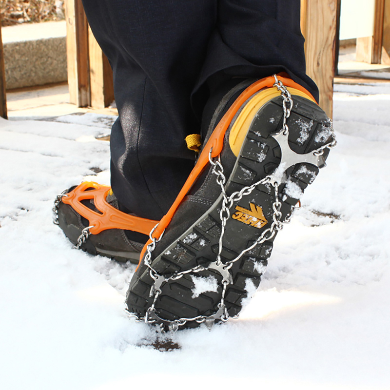 8/10/12 Anti-slip Shoe Covers Spike Cleats Crampons M/L New Arrival Teeth Non-slip Ice Snow Climbing