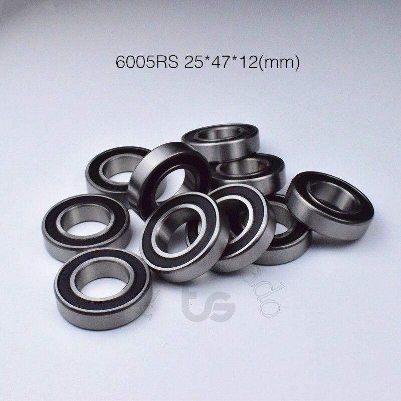 6005RS 25*47*12(mm)  1Piece 6005 Bearing Free Shipping ABEC-5 Rubber Sealing Bearings Chrome Steel Bearing 6005 6005Z 6005ZZ