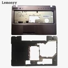 Новый для Lenovo Z570 Z575 клавиатура ободок palmrest верхний регистр/ноутбук Нижняя База чехол
