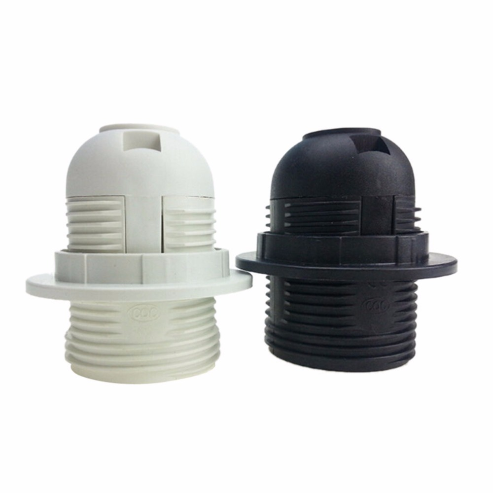Table lamp socket - 1pcs 250v 4a E27 Light Bulb Base Plastic Full Screw Lamp Holder Pendant Socket Lampshade Ring