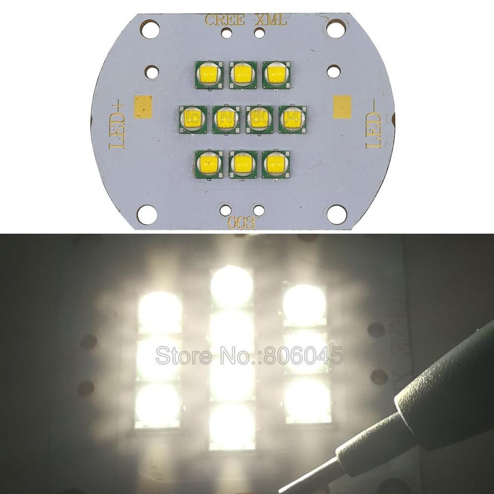 Cree XLamp 100W XM-L XML T6 Warm White 3000K DC30-36V 3000mA 10-LED High Power LED Lighting For DIY House/Street Illumination cree xlamp 100w xm l xml t6 6000k white warm white 3500k dc 30v 36v high power led lighting for diy house street illumination