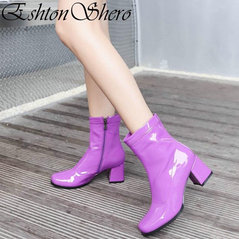 Beverly Dark Purple Stretch Spandex OTK Thigh Stocking High Heel Boots