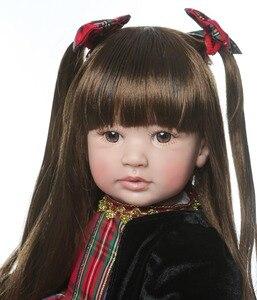 Image 4 - NPK 60 cm סיליקון Reborn בובות תינוק תינוק Alive מציאותי Boneca Bebes כמו בחיים אמיתי ילדה בובת Reborn יום הולדת חג המולד
