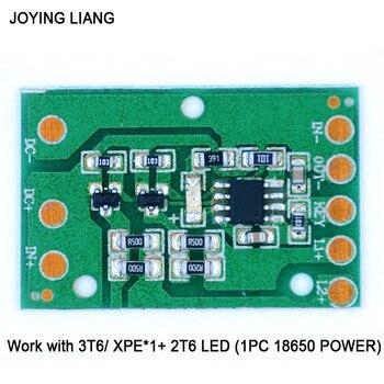 JOYING LIANG HZ-8812 placa de circuito de conducción LED 3T6 XPE Placa de función de lámpara de iluminación portátil accesorios de placa de accionamiento