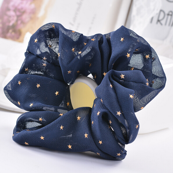 New Arrival 2017 New Star Printed Women's Hair Scrunchies Hair Tie Hair Accessories Ponytail Holder Hair