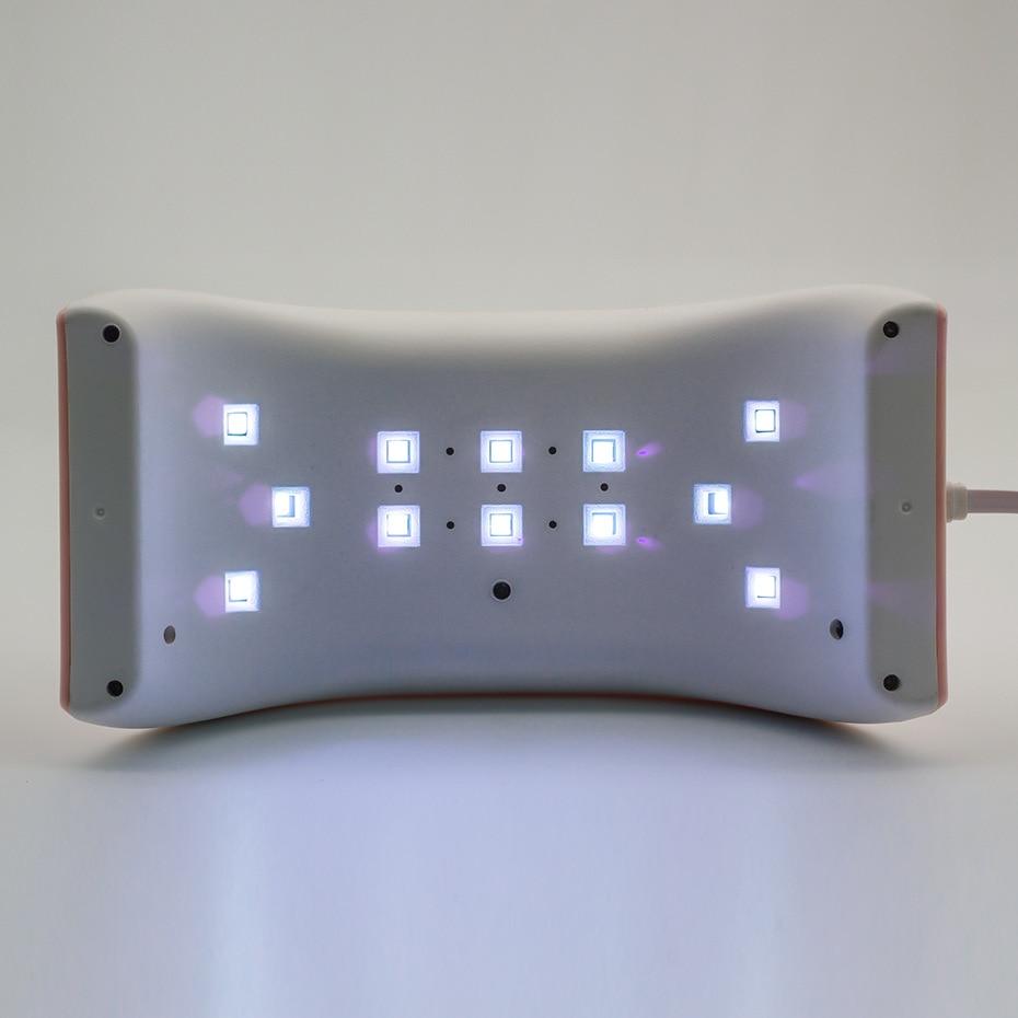 Dırnaqlar üçün üç cənub lampası 24w LCD ekran sun9se LED UV - Dırnaq sənəti - Fotoqrafiya 4