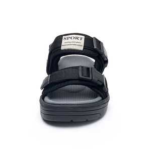 Image 3 - Apakowa Little Boys Open Toe Hook and Loop Beach Walking Adjustable Sports Sandals Kids Outdoor Water Sandal Summer Buckle Shoes