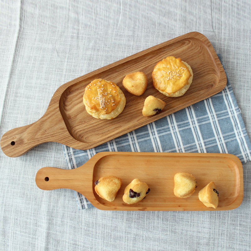 Japan Style Wood Desserts Plate Eco Natural Creative Fruits Cutting Boards No Paint Food Serving Trays Sushi Plates Tableware in Storage Trays from Home Garden