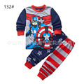 New Hot Pajamas Set All Cotton Cotton Babies Captain America Pajamas Children Spiderman Pajamas 2 Piece Set Boys pijamas