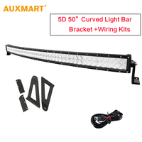 Cree Curved LED Light Bar 50 Inch 480W LED Bar Spot Flood Offroad For Jeep Ford