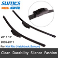 "Wiper blades for KIA Rio ( 2005-2011) 22""+16"" fit standard J hook wiper arms only HY-002"