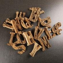 Домашний декор винтажные натуральные деревянные буквы 26 деревянные английские алфавитные буквы для дома Свадебные инструменты украшения DIY