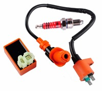 Knight Racing Ignition Coil 6 Pins AC CDI Box Spark Plug A7TC Fit Chinese GY6 50cc