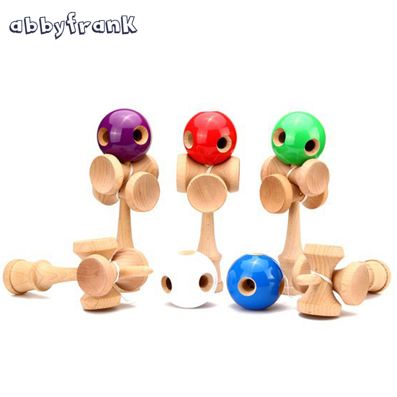 Abbyfrank 5 Holes 5 Cup Wooden Kendama Traditional Toy Ball Game PU Paint Beech Kendama Juggling Ball Gift For Children Adult