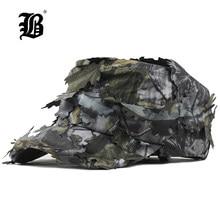 [FLB] – casquette plate en coton délavé pour homme, couvre-chef militaire à feuilles de Camouflage, nouveau Style, respirant, pare-soleil, casquette pour papa, F324