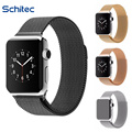 SCHITEC Watch Band for Apple Sport & Edition Fully Magnetic Milanese Stainless Steel Bracelet Strap Watchband