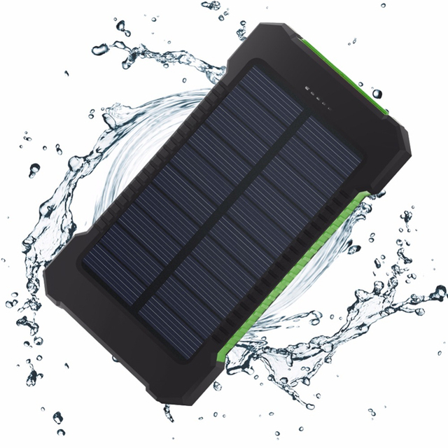 Solar Power Bank 20000mAh External Battery For Xiaomi iPhone 7 8 X Xs Max Portable DUAL Ports Powerbank Mobile Charger Poverbank 6