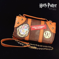 New Harry Potter Hogwarts PU School Badge Wallet Package Collectibles Shoulder Bag Handbags Christmas Gifts Free