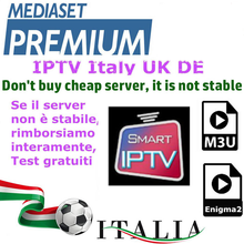 IPTV M3u Subscription Iptv Italy UK German French Spanish Mediaset Premium For Android Box Enigma2 Smart TV PC Linux(China)