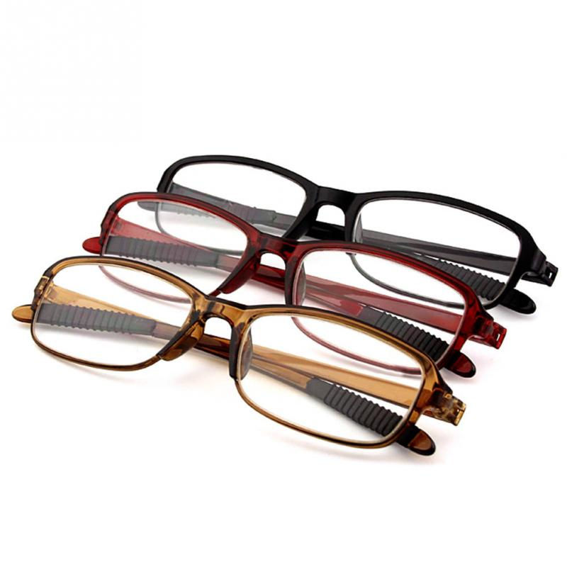 TR90 Women Men Flexible Reading Glasses The Elderly Reading Glasses Strength Presbyopic Glasses