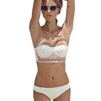 2016 New Sexy Women S Lady Bandeau Bikini Sets Retro Boho Style Swimsuit Push Up Bathing