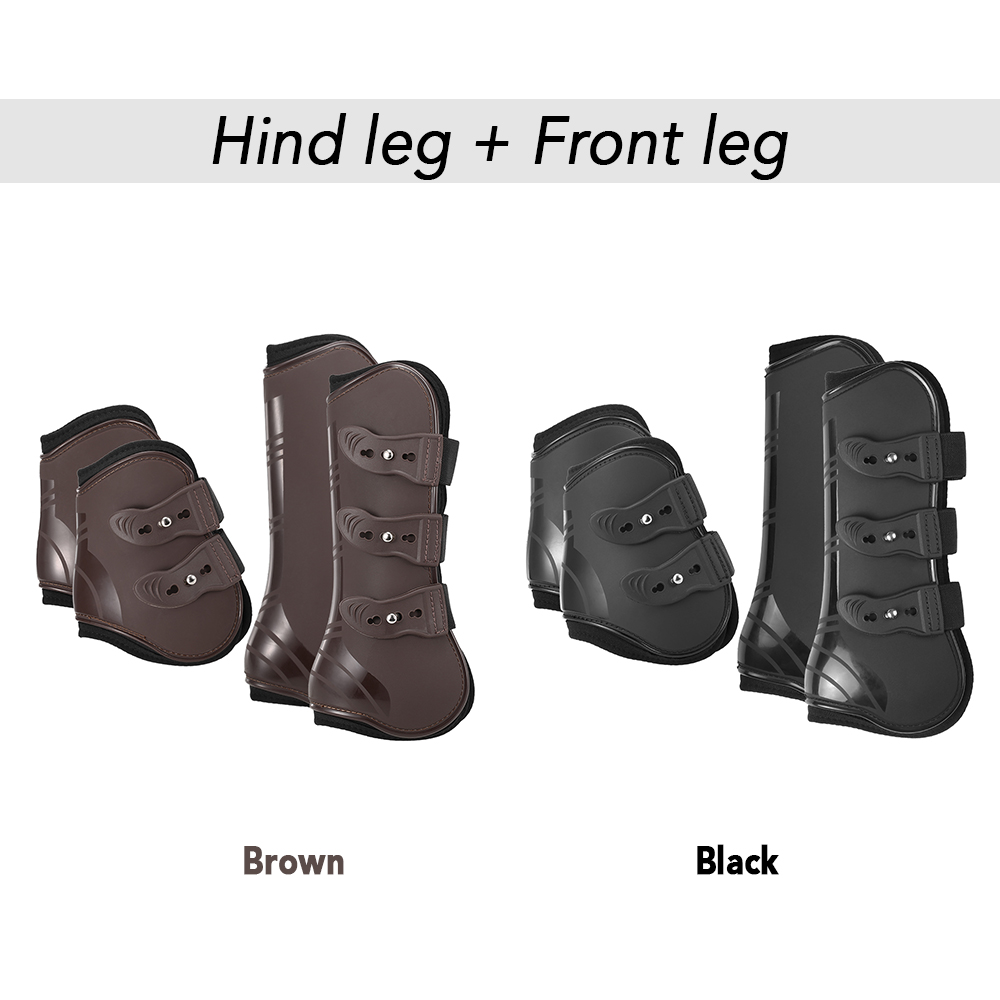 Image 5 - 4 PCS Front Hind Leg Boots Adjustable Horse Leg Boots Equine Front Hind Leg Guard Equestrian Tendon Protection Horse Hock Brace-in Horse Care Products from Sports & Entertainment
