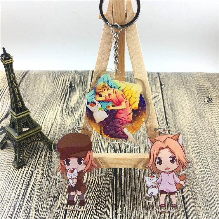 Popular Anime Natsume Yuujinchou Action Figure Pingente Carro Chaveiro Chave Acessórios Acrílico Modelo Brinquedos Presente de Formatura