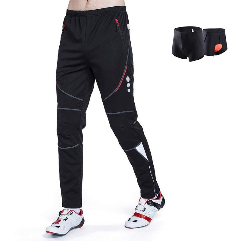 Men Winter Cycling Pants Reflective Bicycle Pants Fleece MTB Pants Waterproof  Windproof Bike Pants Breathable Outdoor Trousers