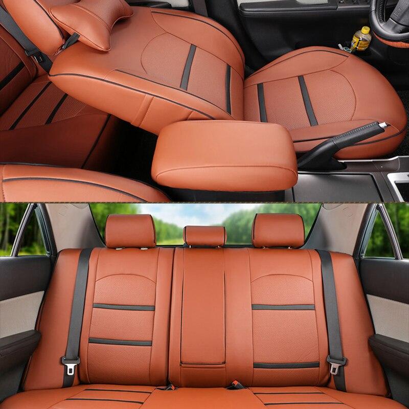 CARTAILOR PU Dəri örtüklü oturacaqlar Mitsubishi Pajero İdman - Avtomobil daxili aksesuarları - Fotoqrafiya 5