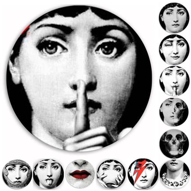 1 Pc Mode Fornasetti Louisa Visage Papier Peint Attrayant