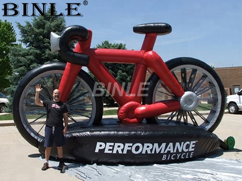 Custom inflatable bike model for outdoor advertising giant inflatable bicycle saleCustom inflatable bike model for outdoor advertising giant inflatable bicycle sale