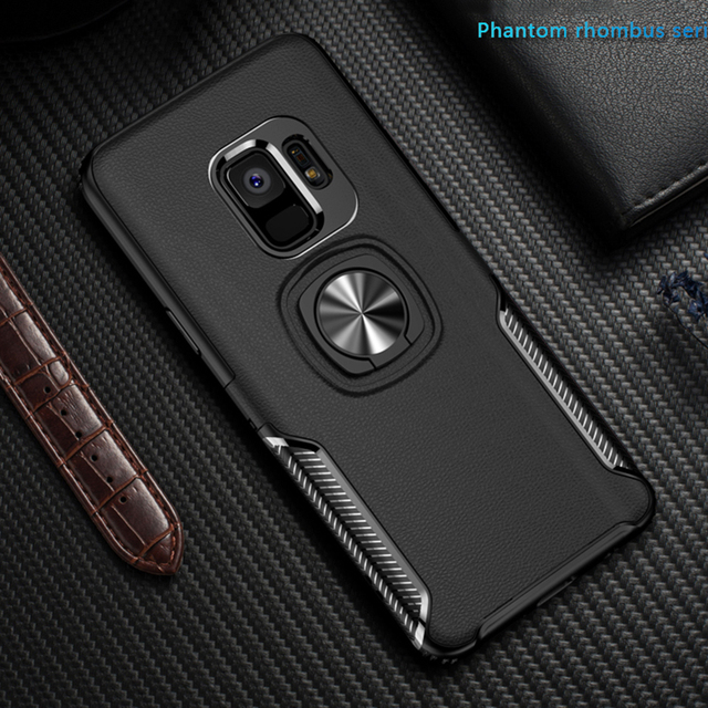hot sale online 7604b c97a3 US $4.24 15% OFF|Toraise For Samsung s9 Plus Case Luxury Metal Ring Car  Stand Silicone Case for Samsung Galaxy S9 Note 9 Note 8 S8 S8 Plus Cover  -in ...