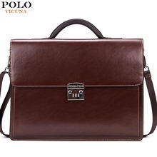 VICUNA POLO Luxury Business Mens Briefcase With Code-Lock High Quality OL Business Man Bag Italy Brand pasta executiva masculino